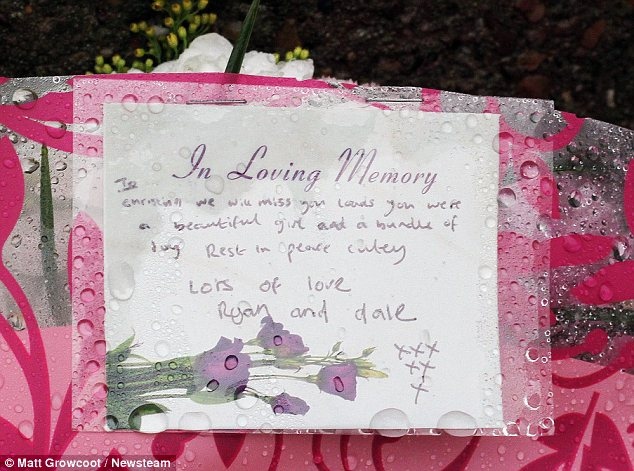 'In loving memory': The teenager, who wanted to become a nurse, was killed as she travelled to school to sit a mock GCSE exam, friends said