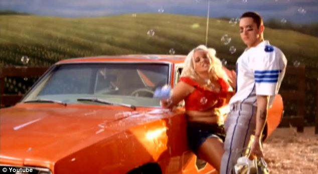 Trish danced with Eminem dressed as Jessica Simpson for his single We Made You
