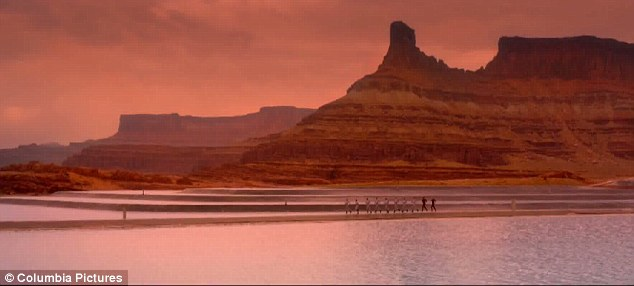 Unforgiving: Planet earth has been vacated for 1,000 years in the movie after the human race fled the planet after cataclysmic events made it inhospitable