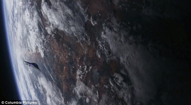 Out of this world: The sci-fi film sees the human race living elsewhere after leaving planet earth after it became an inhospitable environment to live in 1,000 years ago