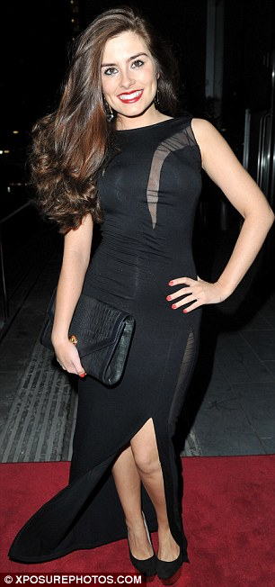 Working it: Hollyoaks star Rachel Shenton, who left the soap last month, looked sexy in a slinky black number