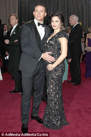 Never sexier: Channing Tatum thinks his wife is sexiest when she is pregnant