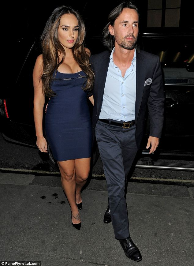 Blue moon: In February Tamara again wore a similar style dress as she joined her fiance for dinner