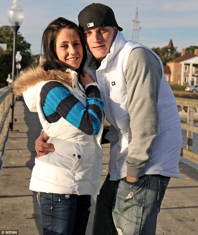 'Chillin with someone special': Jenelle and Courtland, seen here in January, fueled reconciliation rumours on Tuesday after sweetly tweeting at each other