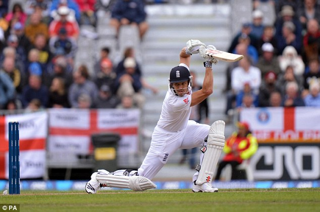 Making his mark: Compton looks to secure his place at the top of the England batting order