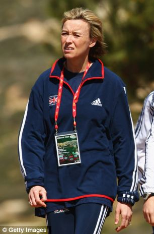 Coaching: Liz (left) coaches several British athletes including her daughter