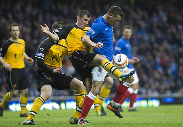 Shock result: Rangers are still leading the Scottish Third Division a 17 point margin