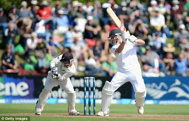 Important innings: Jonathan Trott hit 52 to help England to a draw