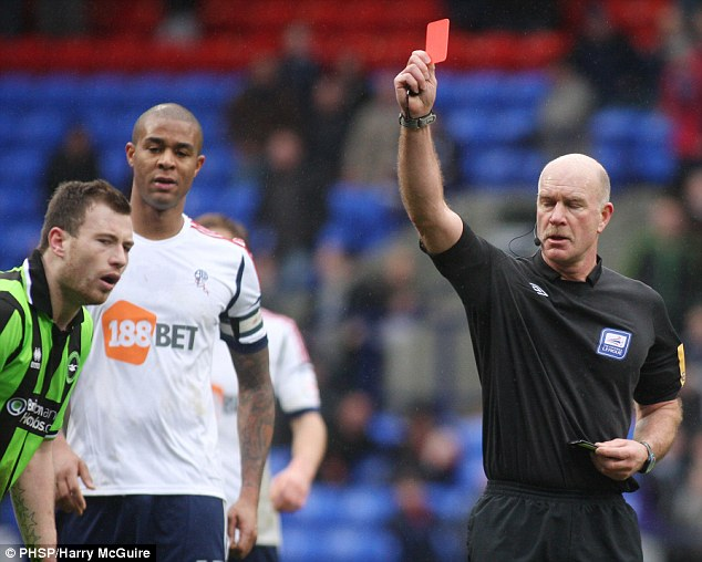 Lengthy ban: Barnes has been sent off twice this season