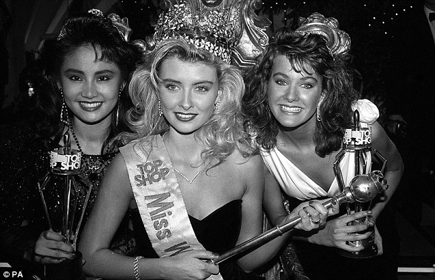 Beauty: Kirsty (pictured right) came third in the 1988 Miss World contest when she was 18