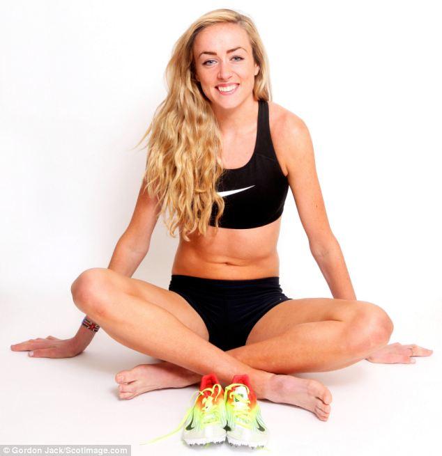Golden girl: Eilish McColgan didn't ever think she's make the top level of athletics