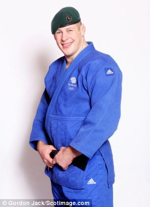 Royal Marine: Judoka Chris Sherrington is a serious contender for Gold in Glasgow after an impressive performance at London 2012