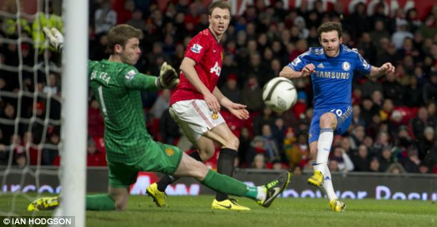 Outstanding: Only a save from David de Gea prevented Chelsea beating United