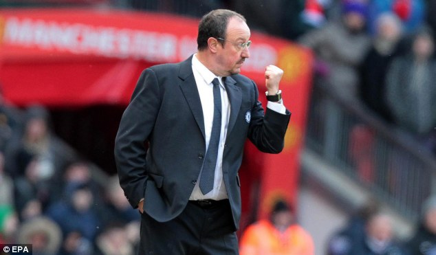 Isolated: Rafa Benitez has never been given the backing of Chelsea's supporters