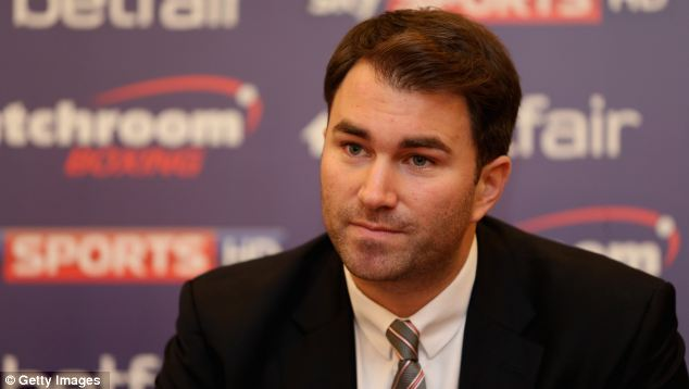 Serious: Eddie Hearn is adamant Matchroom have done nothing wrong in signing Ricky Burns