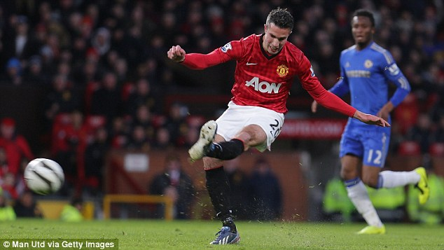 Rivals: Both Gareth Bale and Robin van Persie has been superb for Tottenham and Man Utd respectively