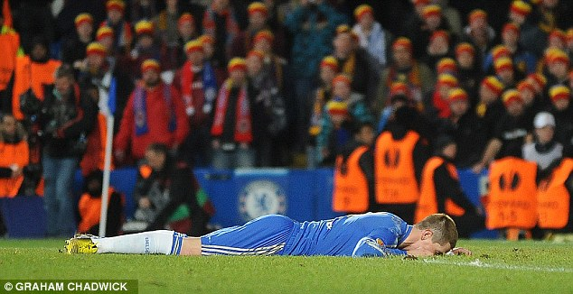 Misfiring: Torres's only two goals this year for Chelsea have come against lower-league opposition