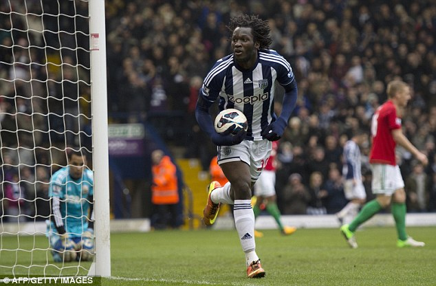 Prolific: Romelu Lukaku's strike against Swansea was his 13th of the season for West Brom