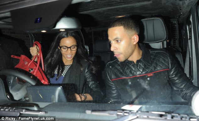 Can't get enough: Marvin, seen with Rochelle last month, loves her growing curves and changing shape