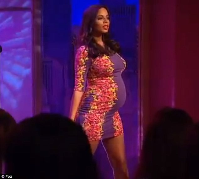 He adores her curves: Rochelle Humes has revealed her husband Marvin loves her pregnant shape. On Monday the singer appeared on the Wendy Williams show in a skin-tight dress