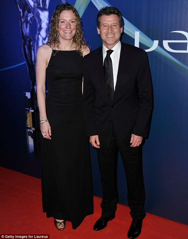 Coupled up: Laureus Academy Member Lord Sebastian Coe and a guest donned black