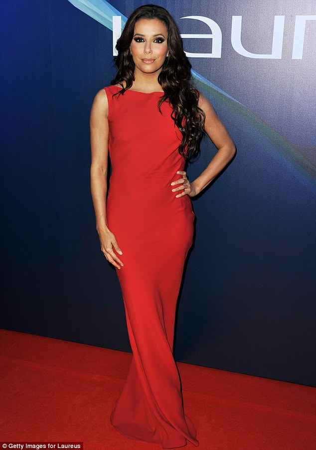 Lady in red: Earlier in the evening, the actress made an elegant arrival in the scarlet sensation