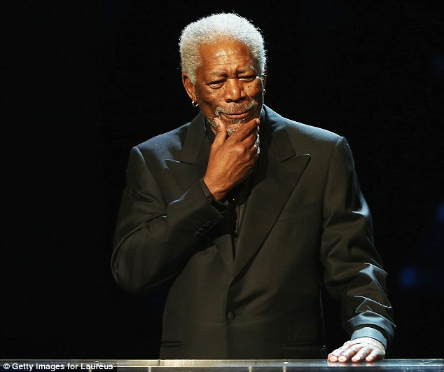 On the podium: Actor Morgan Freeman hosted the event