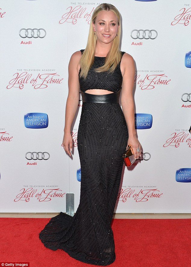 Stunning: Actress Kaley Cuoco stole the show at a television gala on Monday evening in Beverly Hills