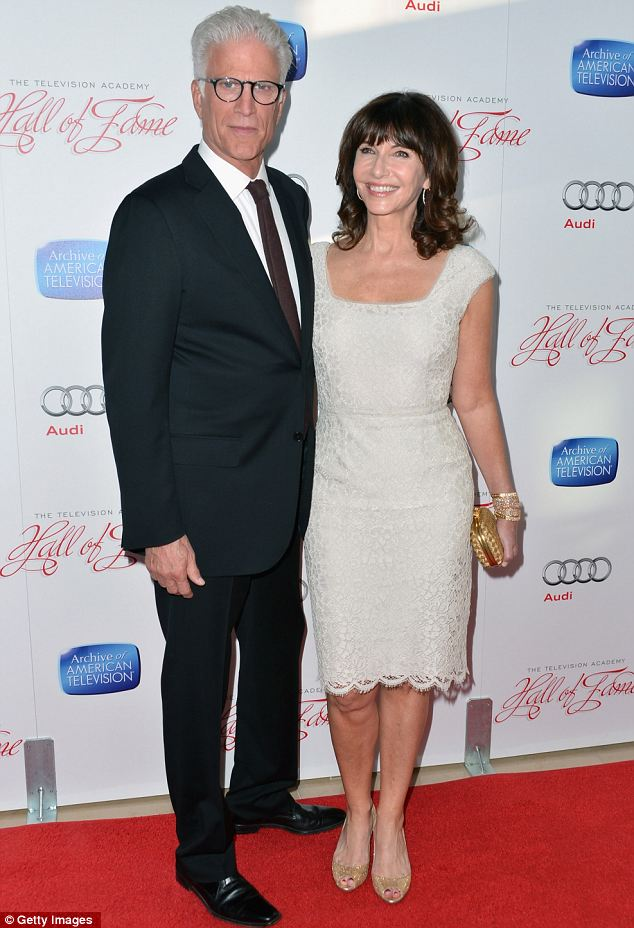 Familiar faces: Ted Danson and actress Mary Steenburgen also attended the ceremony