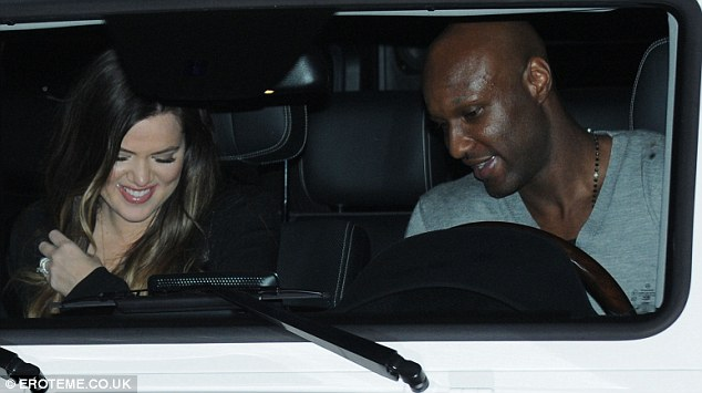 Careful! Khloe told her Twitter followers that she was nervous about her husband's crazy driving style