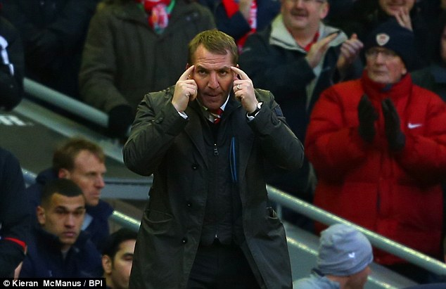 Thinking ahead: Sunday's win put Liverpool into the top six for the first time in Brendan Rodgers' reign