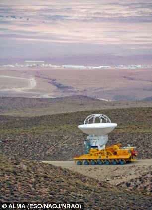 An ALMA antenna en route from the Operations Support Facility to the plateau of Chajnantor during the decade long construction process
