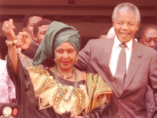 High profile: Madikizela-Mandela was separated from Mandela in 1992, two years after he was released from 27 years of incarceration