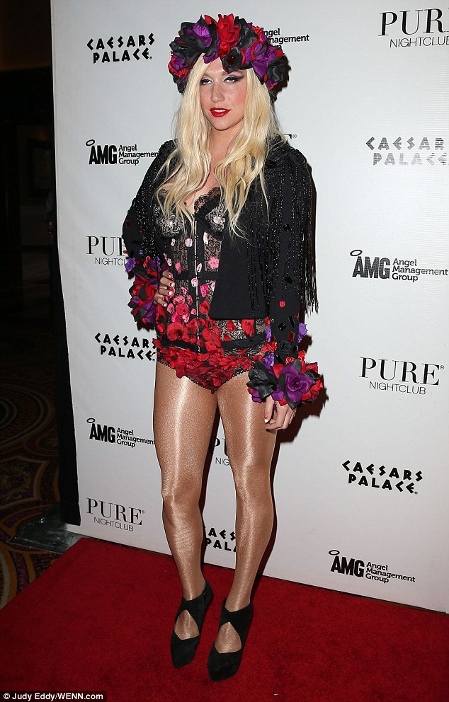 Flower power: On Friday, Ke$ha announced she'll be embarking on a US spring tour with rapper Pitbull, which kicks off May 23 in Boston