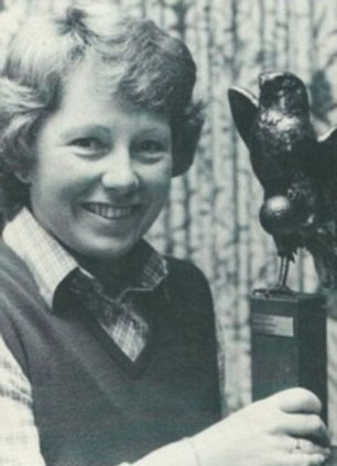 Golf champion: Jenny lifts a trophy in 1981