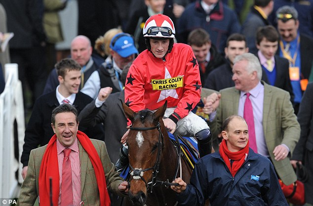 Crowd pleaser: Sam Twiston-Davies celebrates winning on The New One