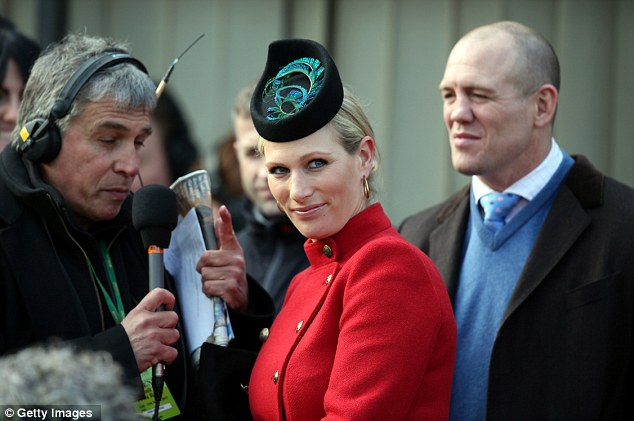 Impressed: Zara Phillips, with husband Mike Tindall, was full of praise for Sprinter Sacre after the big race