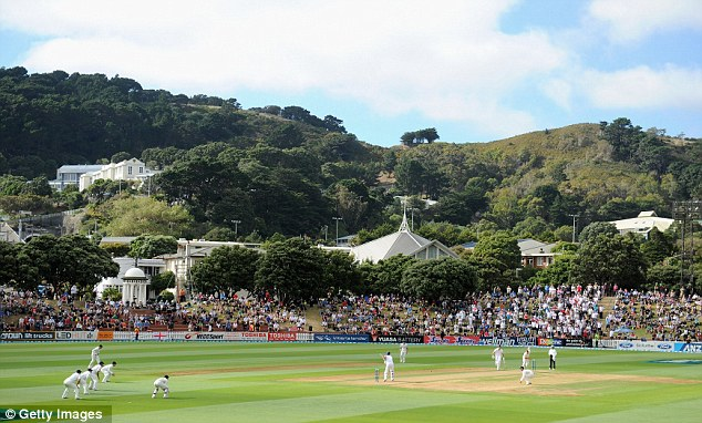Wish you were here? Wellington's Basin Reserve ground is the perfect setting to watch cricket