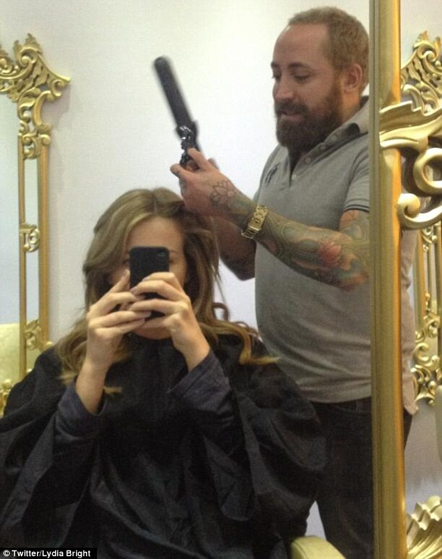 Hair today! The aspiring designer spent 10 hours in the salon on Monday perfecting her new look