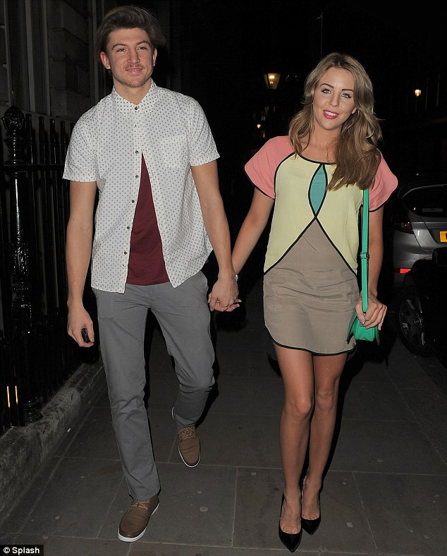 Party time! The couple spent Tuesday night partying at London's Sanctum Soho Hotel in celebration of former Pussycat Dolls singer Kimberly Wyatt's Beautiful Movements cosmetics launch bash