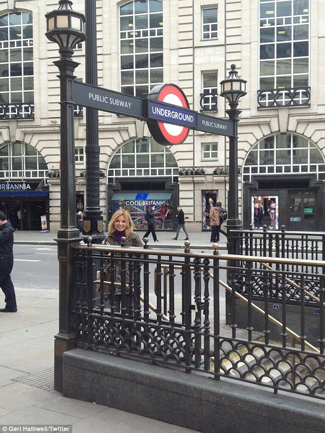 'Loved it!!i'm a Londoner! I'm liberated!!': Geri's mid-morning commute lasted just one stop on the Piccadilly line