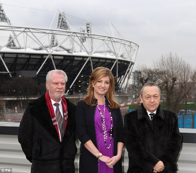 Olympic dream: West Ham owners (pictured) hope that the move to Stratford will propel the club into the highest echelons of the Premier League