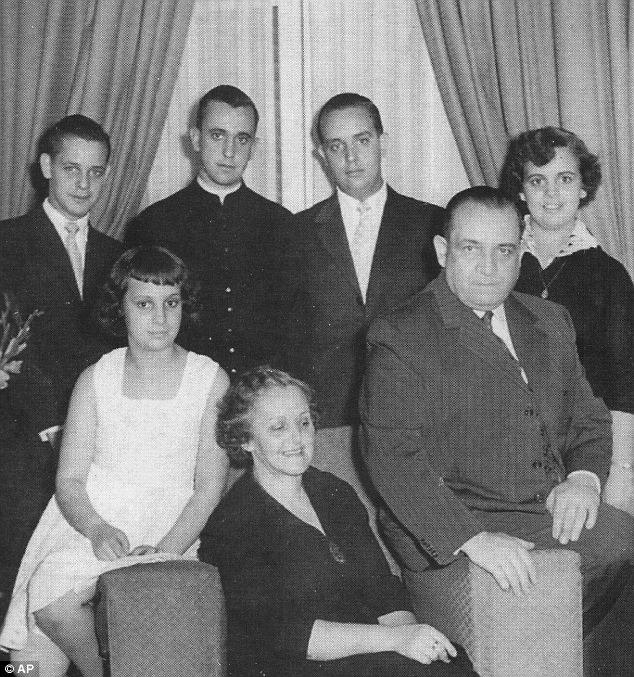 In this undated picture Cardinal Jorge Mario Bergoglio, Archbishop of Buenos Aires, second from left in back row, poses for a picture with his famil