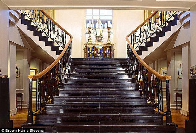 Humble abode: Rumors abound that the property is due to go on sale with the record breaking price tag of $120m. Viewers will be greeted by this marble staircase