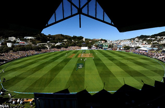 Just a perfect day: The clouds were nowhere to be seen on the first afternoon of the second Test