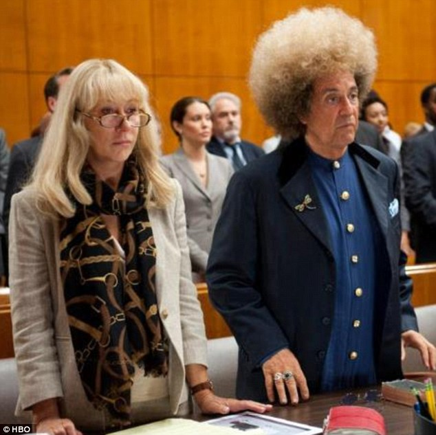Hair-raising experience: Al stars as Spector while Helen Mirren plays his defence lawyer Linda Kenney Baden