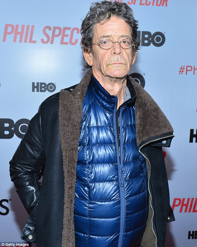 Reeding between the lines: Music legend Lou Reed turned up to see the controversial film
