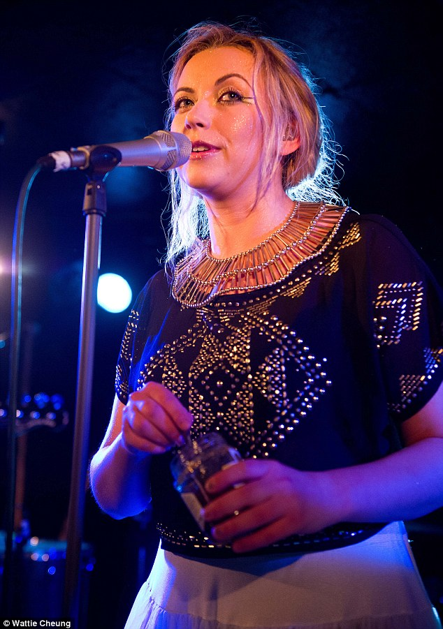 Bohemian girl: Charlotte wore a similarly ethic-inspired outfit when she performed her new music back in December