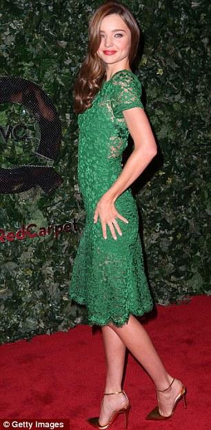 Miranda Kerr's cheekbones and legs