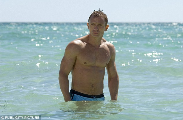 The 'masculine' choice? Daniel Craig, seen here in his trunks in Bond film Casino Royale, would be Sir Stirling's favourite